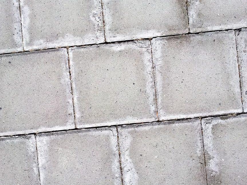 Процесс разрушений тротуарной плитки