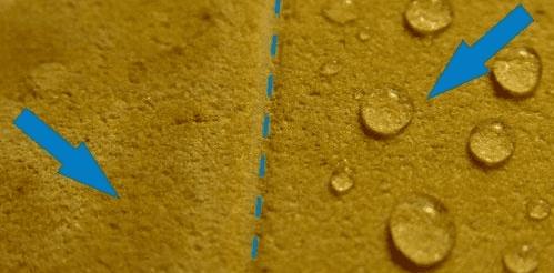 эффект действия гидрофобизатора FOB-F7 на искусственном камне