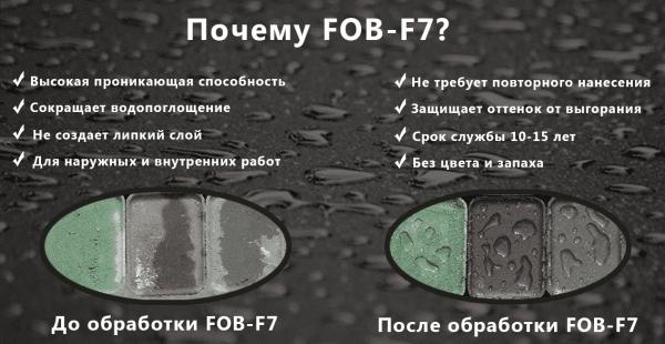 Преимущества гидрофобизатора ФОБ-Ф7